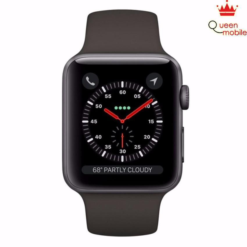 Đồng hồ Apple Watch Series 3 38mm xám (Space Gray Aluminum Case with Gray Sport Band MR352)(Xám)