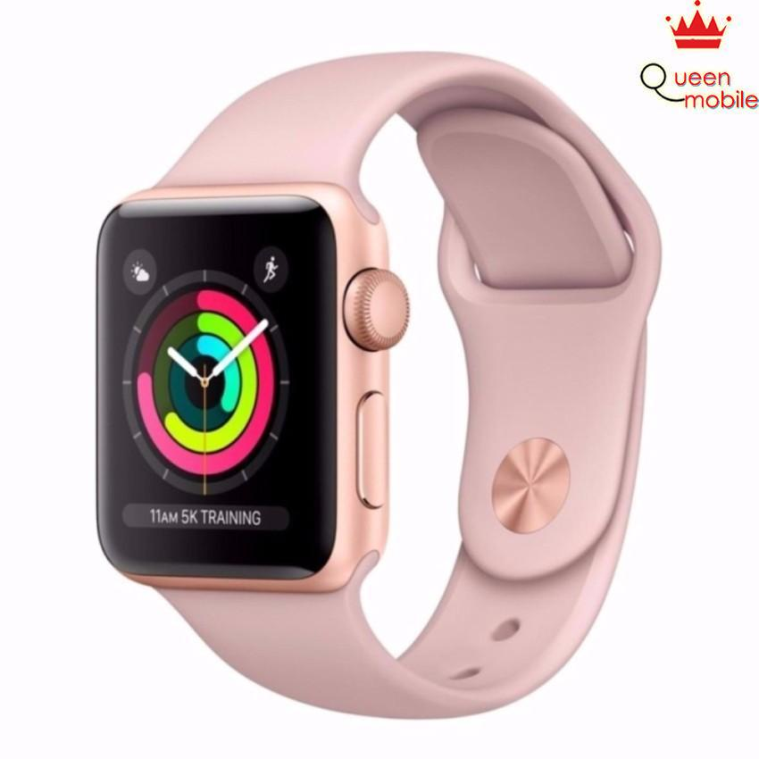 Đồng hồ Apple Watch Series 3 38mm vàng (Gold Aluminum Case with Pink Sand Sport Band MQKW2)