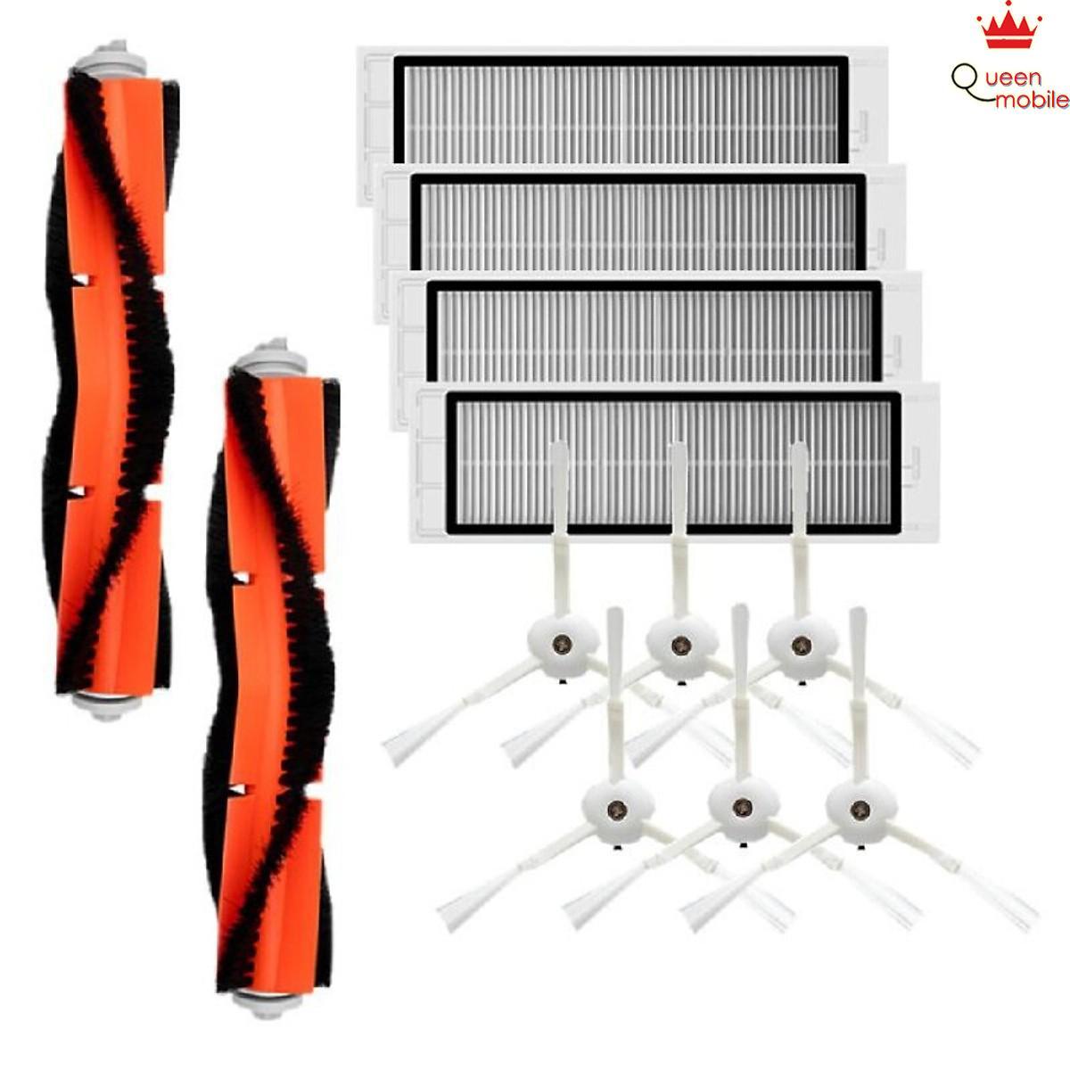 Bộ Phụ Kiện Máy Hút Bụi Xiaomi 1 Xia Gồm 6 Chổi Cạnh + 4 Bộ Lọc HEPA + 2  Chổi Chính - QUEEN MOBILE