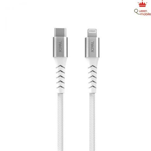 Cáp sạc nhanh USB-C to Lightning JCPAL Flexlink – hàng chính hãng