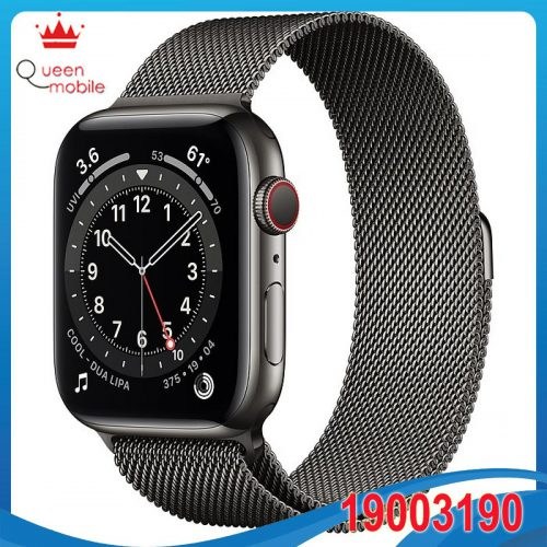 Đồng hồ thông minh Apple Watch Series 6 GPS + Cellular 44mm M09J3 Graphite Stainless Steel Case with Graphite Milanese Loop