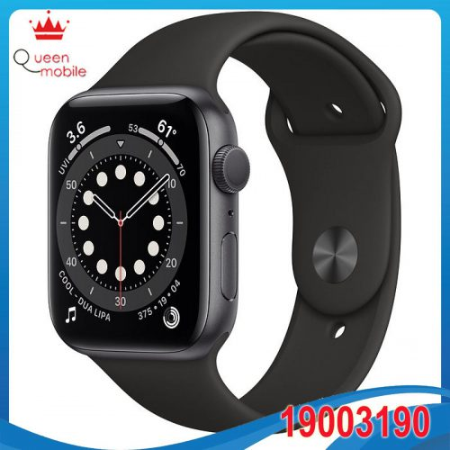 Đồng hồ thông minh Apple Watch Series 6 GPS 44mm M00H3 Space Gray Aluminium Case with Black Sport Band