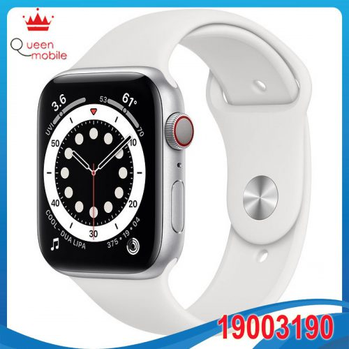 Đồng hồ thông minh Apple Watch Series 6 GPS + Cellular 44mm MG2C3 Silver Aluminium Case with White Sport Band