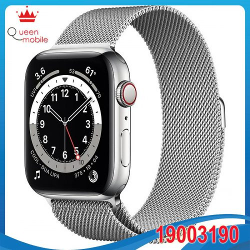 Đồng hồ thông minh Apple Watch Series 6 GPS + Cellular 44mm M09E3 Silver Stainless Steel Case with Silver Milanese Loop